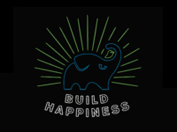 Build Happiness t-shirt design