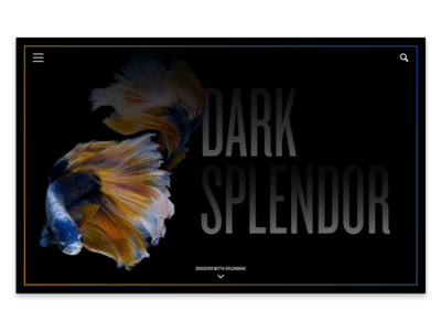 Daily UI 003: Landing Page black landing page web visual ui typography science design dailyui