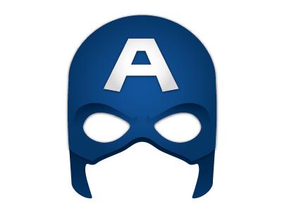 Captain American mask illustration iphone app design graphic halloween