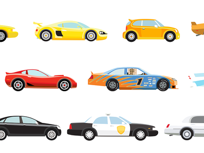 Cars vector art illustration cars