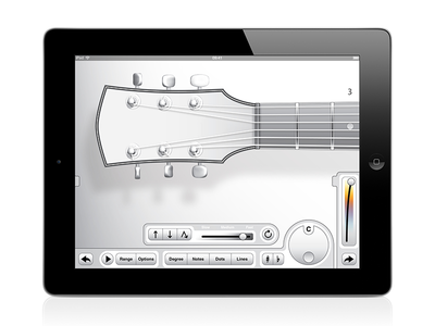 Guitar Scale Visualizer design vector ipad uiux apps guitar