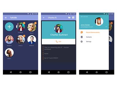 TalkBak Mobile App app mobile android ux ui