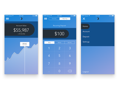 Bankr Mobile App ios android app mobile ux ui