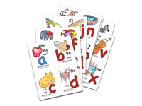 Sing and Trace Abc Flashcards (4 to a page)