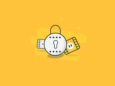 Login To Play Illustration filimo object movie lock play illustration login icon