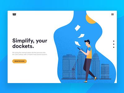 Landing Page startup flat illustration landing