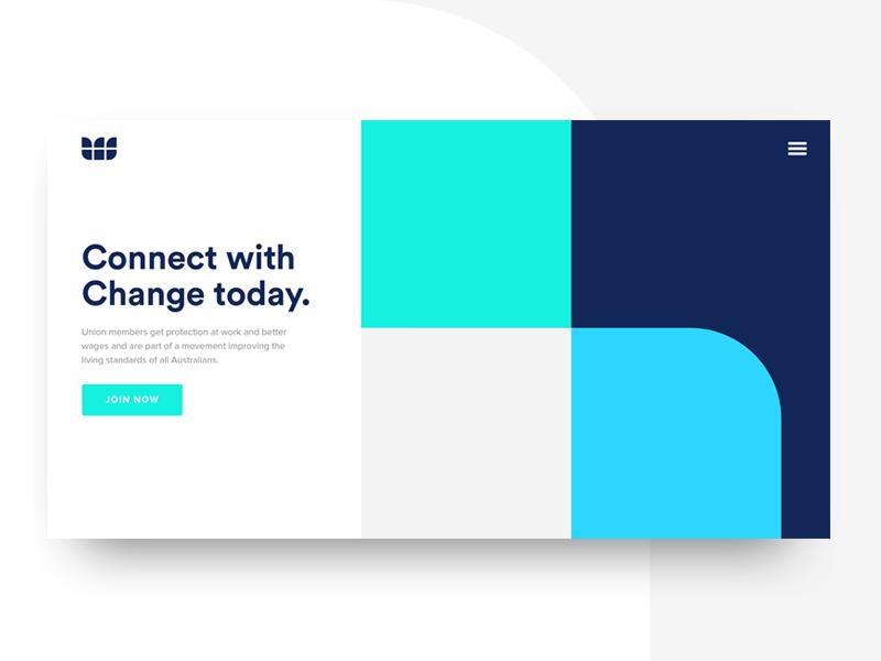 Employee Network Branding flat blue clean landing branding