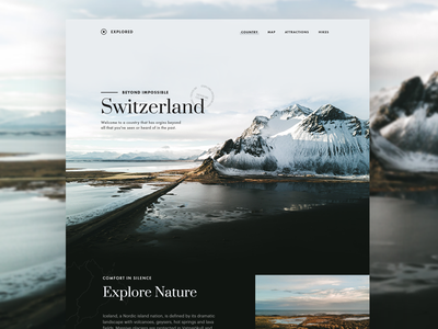 Explored - 001 travel ice switzerland landing snow magazine article blog minimal