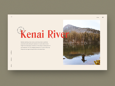 Kenai River typography simple magazine bekkers article blog landing minimal