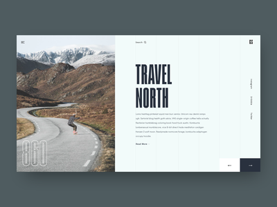 Travel North landing magazine article blog minimal