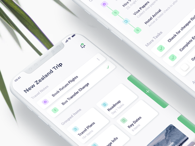 Travel Productivity xd sketch minimal modern tasks productivity ui application app travel