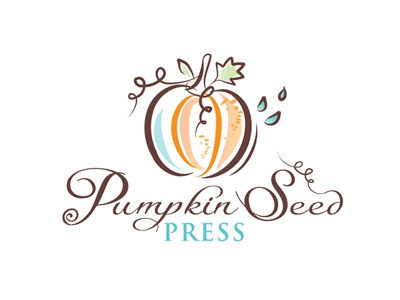 Pumpkin seed press pumpkin publishing logo illustration