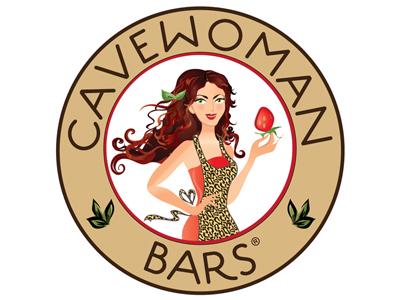 Cavewoman37 food cave woman natural logo