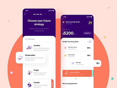 Kollo Financial Mobile App ui ux illustration finance chart financial app finance app mobileapp iosapp interface app uxui