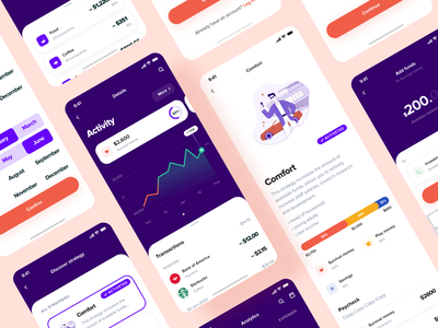 Financial Strategies Mobile App transaction chart diagram financial app vector mobileapp iosapp illustration app ux ui