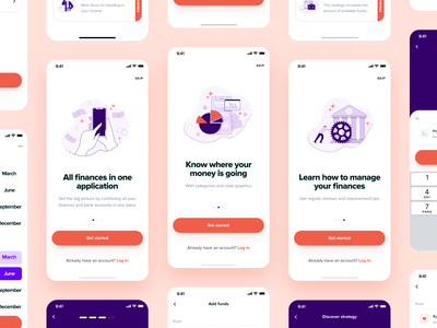 Onboarding Screens For Financial App onboarding uxui character financial app finance mobileapp iosapp interface app illustration ux ui