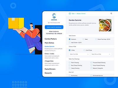 B2B Platform For Ordering And Delivering Food platform food ordering ordering pos restaurant b2b website interface illustration ux ui