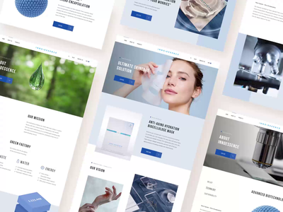 InnoEssense layout grid identity corporate design website branding design typography interface ux ui