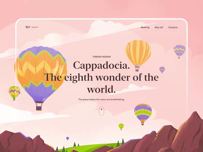 Cappadocia Tours Website aftereffects animation motion concept website design website travel turkey trip vector design illustration ux ui