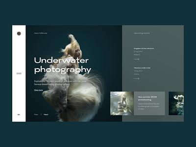 Online photo magazine UI travel landing minimalism interface graphic design photography webdesign web magazine blog illustration design typography ui ux