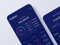 Portfolio value in crypto wallet