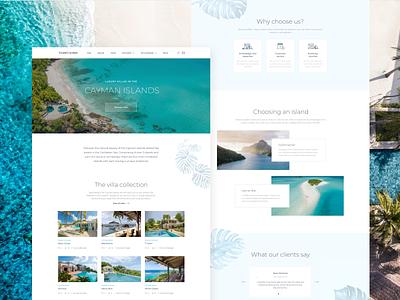 Villas Booking Website website design website travel booking branding design interface illustration typography ux ui