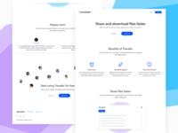 Zanvent Transfer Landing Page