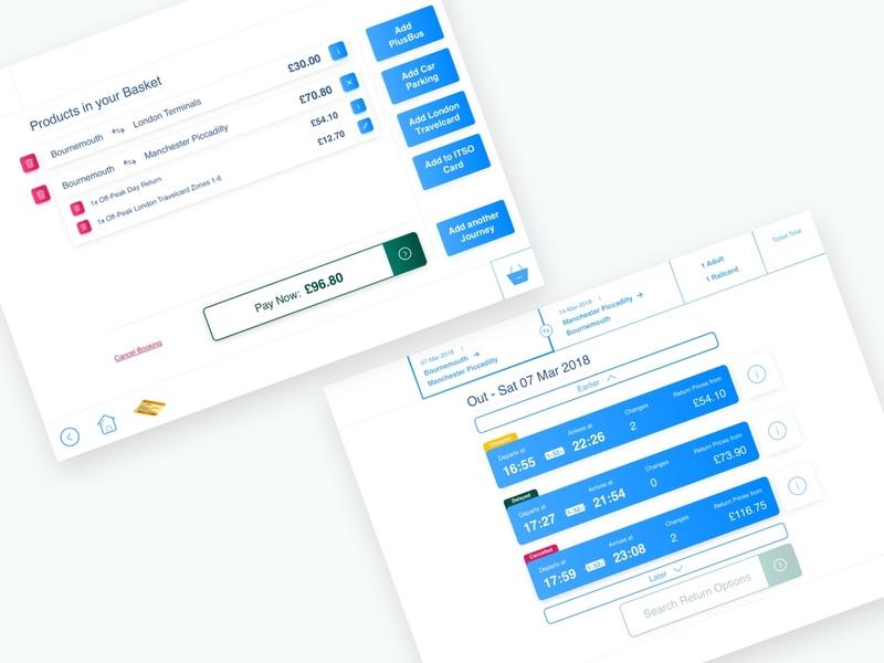 Train Ticket Vending Machine Pt.3 sketch travel app transport light design clean ux ui  ux ui