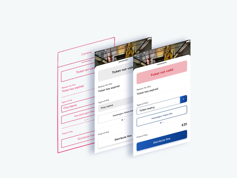 Design Process - Ticket Inspector App by Hallam Ager on Dribbble