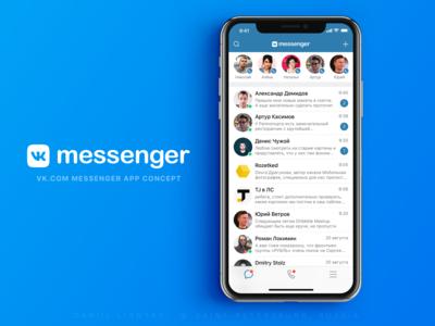 """VK Messenger"" app concept"