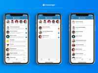 """VK Messenger"" app concept all tabs"