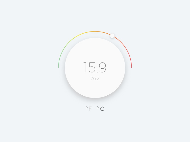 Thermostat UI concept clean art illustrator photoshop design vector dailyui ui