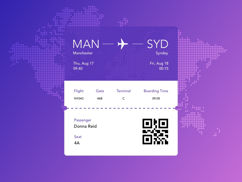 Boarding Pass ux ui travel plane tickets color airlines print graphic design boarding pass
