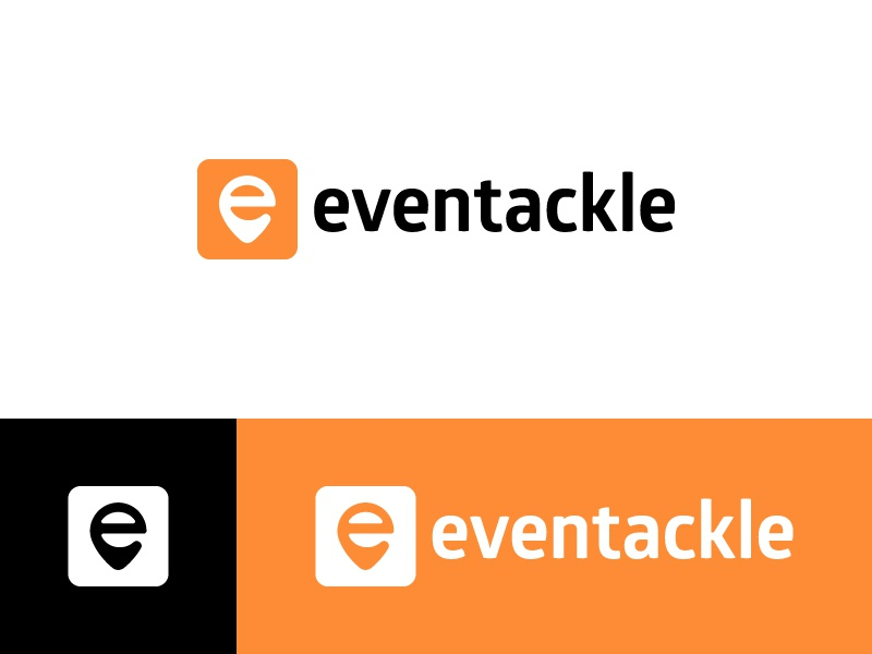 Eventackle - Logo Design logo design social people brand location wordmark identity icon events logo branding