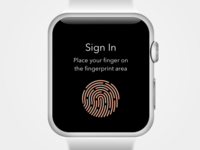Fingerprint Sign In on Apple Watch
