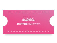 Dribble Invite to giveaway!