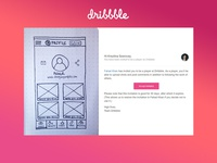 UI Sketch for a Dribbble App Concept (Profile Screen)