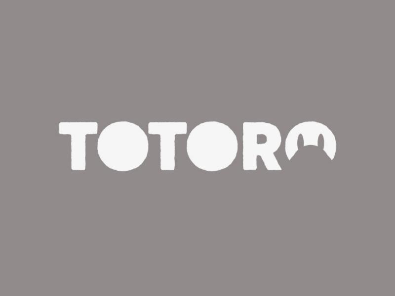 Totoro totoro logo design minimal