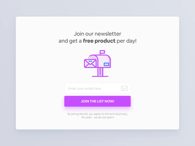 Newsletter UI Animation userinterface subscription subscribe website web interaction motion typography vector illustration ux animation ui design interface design app ui