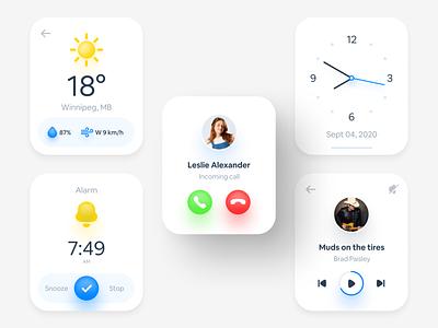 Smart Watch Interface smartwatch smart watch product design app animation interface dark ux design ui design ux ui