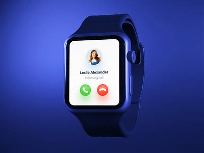 Incoming Call Screen Interaction animation light dark smart watch smartwatch os product design ux design ui design interface app ux ui