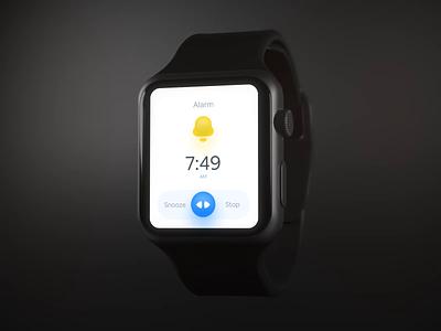 Alarm Animation on Smart Watch smart watch smartwatch uidesign animation dark design ui design ux interface app ui