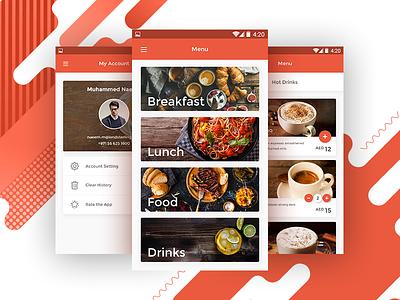 Coffee Central UI App Design material design app design android delivery food app ux ui