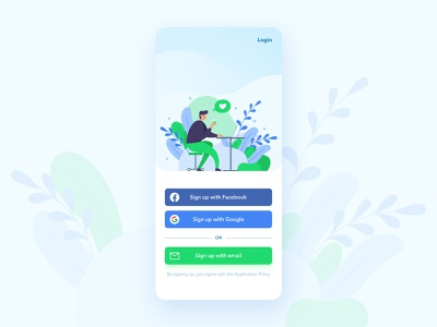 Daily UI 01 - Sign Up login sign up figmadesign figma dailychallenge day001 ui design app daily ui challenge design illustration ui