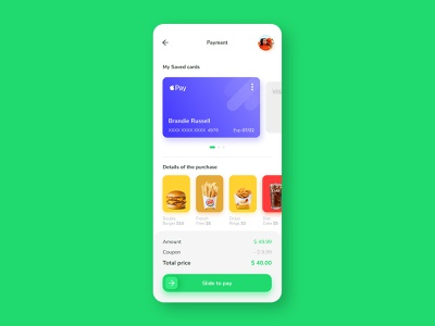 Credit Card Checkout purchase uidaily uidesign apple pay order money payments clean challenge design payment credit card ux ui concept app