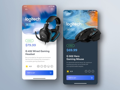 Tech Store - Shop UI application purchase add to cart ui design technology interface concept ux dark daily ui challenge design ui product page tech app