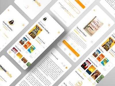 Amazon Kindle App - Redesigned mobile bookstore reading app reading light interface books app uidesign uxdesign rebrand ui