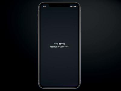 Mood App Interaction Screens uidesign concept ux dark ui design animation interface design app ui