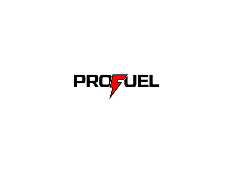 ProFuel Logo hybrid cell battery energy logo red thunderbolt electric eco profuel