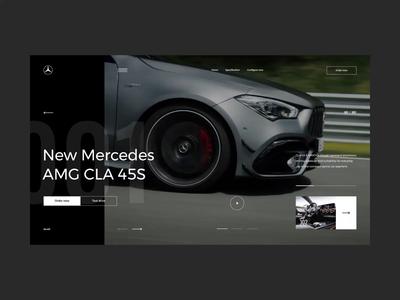 #79-2 Shots for Practice typogaphy black dark web interaction motion concept auto car vehicle automotive mercedes movie video animation design website ux ui